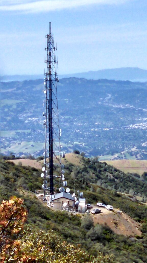 Mt Diablo South Peak Communications facility